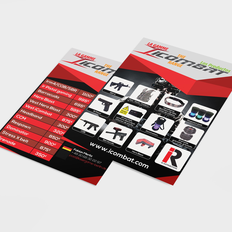Flyer impression Pau - Icombat - Imprimeur Pau Orthez Dax tarbes
