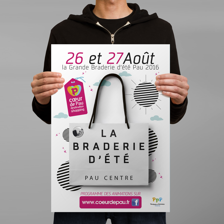 Braderie Pau - Ville de Pau - Communication Graphisme infographiste